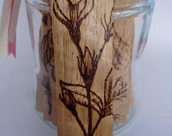 Wood Bookmark, Jasmine