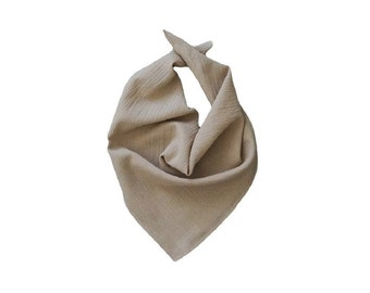 COTTON GAUZE BANDANA | Tan