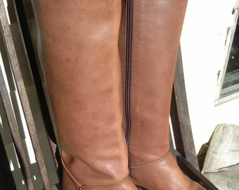 Catleia leather tan boots