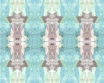 """TRIBAL TOTEMS BLUE Peel and Stick Wallpaper - 8""""x10"""" Sample"""