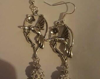 Hummingbird Earrings - Handmade