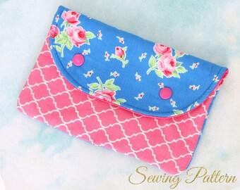 Wristlet Clutch Pattern, Clutch Purse Pattern, Clutch Pattern, Purse Pattern,  Envelope Clutch Pattern,  Sewing Pattern PDF, HANDY (B906)