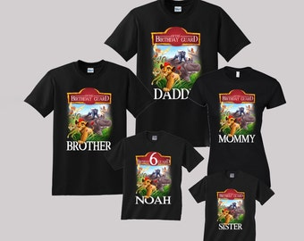 Lion Guard Birthday Shirt Custom personalized shirts for all family, Black b2