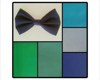 Classic bow - Navy hair bow - classic hair bow on a clip - green bow - light blue bow - handmade bow - hair bow on a clip, blue hair bow