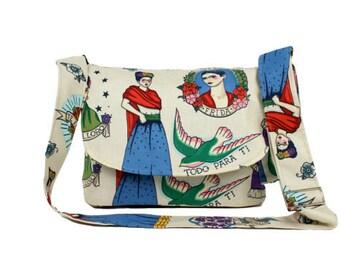 Beige Frida Messenger / Diaper Bag