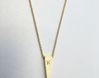 Custom Pendant Necklace -Personalized Necklace, Gold jewelry,Engraved Necklace, Bar Necklace,initial necklace,gold necklace,silver initial