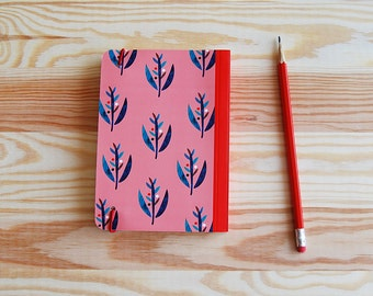 Pocket Journal Diary, Upcycled Journal, Flower Journal, Memory Journal, Blank Diary, Unique Notebook, Small Journal, Vintage Notebook