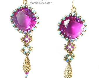 Fuchsia drop earring kit and tutorial