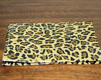 Leopard Print Medium Bi-Fold Duct Tape Wallet