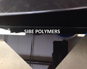 "SIBE-R PLASTIC SUPPLY - black acrylic plexiglass 3/16"" x 24"" x 24"" plastic sheet"