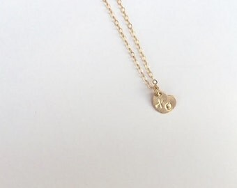 Mini XO  Heart necklace -  personalized jewelry - minimalist jewelry -  personalized necklace