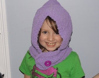 Purple Knit Hood