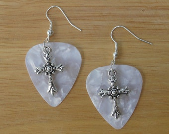 Guitar Pick Jewelry - Earrings - Cross - Charms - Music