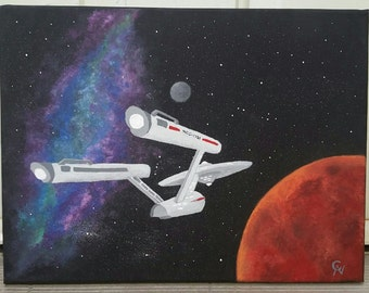 Space The Final Frontier (Star Trek Painting)