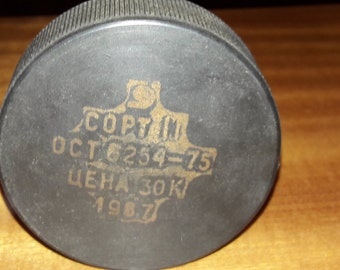 Puck for hockey, Vintage, USSR, rubber,the Soviet Union