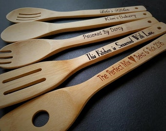 10 personalized kitchen utensils spatula engraved spoon personalized gift gifts for - Kitchen Gift Ideas For Mom