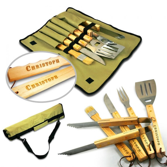 BBQ Cutlery Set– 5-Piece Grilling Tool Set