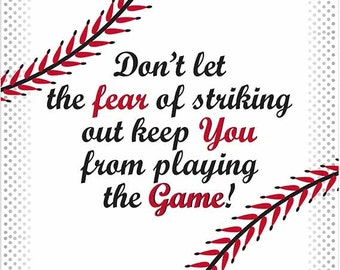 Image result for don't let the fear of striking out