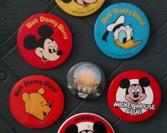 Vintage 1982 Disney Pinback Buttons