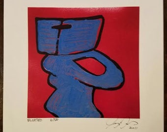 funny print of a toilet painting