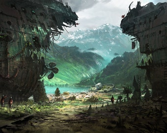 Stranded - Poster Wall Decor - Fantasy Posters - Concept Art