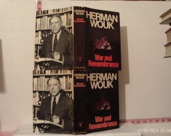War and Remembrance Volumes 1 and 2 by Herman Wouk 1978 Hardcover Book Club Editions Dust Jackets