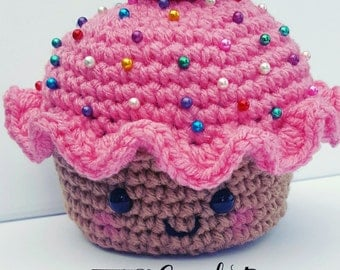 Crochet Cupcake Pincushion / Crochet Cupcake Toy / Baby toy / Baby Shower