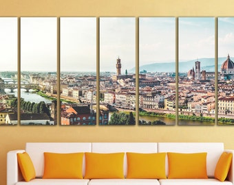 Florence wall art Florence wall decor Florence canvas Florence print Italy wall art Italy wall decor City Extra Large Wall Art Large Canvas