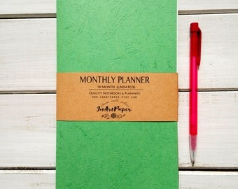 Midori insert, Midori Traveler's Notebook insert, Fauxdori insert, monthly planner, journal midori notebook, fauxdori notebook, cahier month