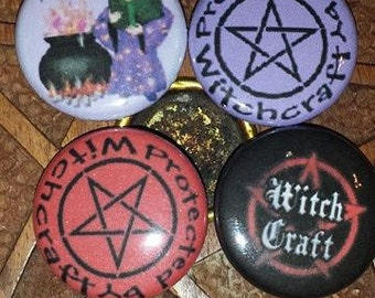 WitchCraft 1 inch pin buttons -4 set