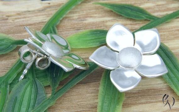 boucles doreilles en argent 925 / fleur de jasmin