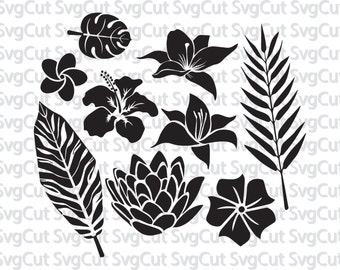 Wild Flowers SVG File,Flowers SVG,Cutting Template-Vector Clip Art for Commercial & Personal Use-Cricut Machine,Silhouette,Cameo,Vinyl