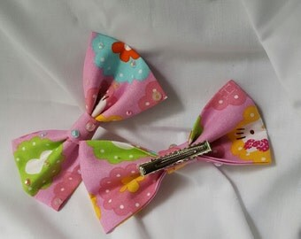 Handmade Hello Kitty Hair Bow Clips