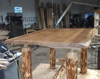 Black Walnut Live Edge Kitchen Table