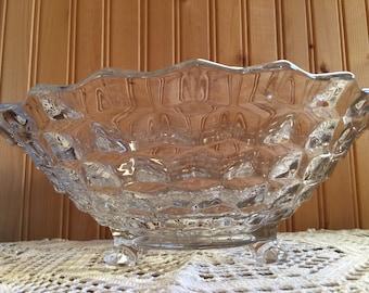 Vintage crystal bowl - footed