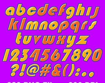 Team Umizumi - Alphabet Clipart - 323 png files 300 dpi - Umizumi Party
