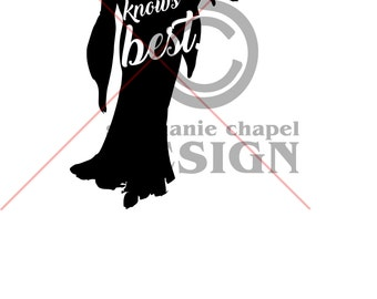 Tangled mother knows best SVG, Tangled mother knows best clipart, Vector art, Svg, Eps, Pdf,  Silhouette Cameo and Cricut, 1 zip file