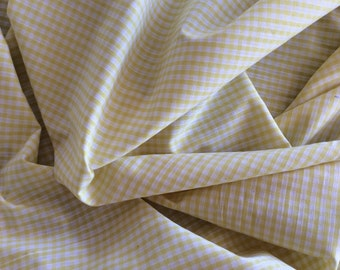 High quality Gingham polycotton poplin. Yellow no15