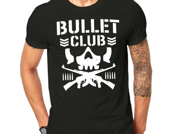 New Bullet Club UFC Fight  T Shirt Black ScreenPrinted Design All Sizes
