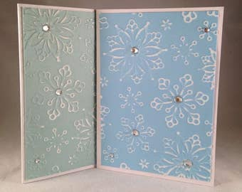 Set of 5 Assorted Snowflakes CLASSIC Winter Cards
