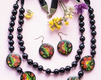 Necklace&Earrings, ethnic style