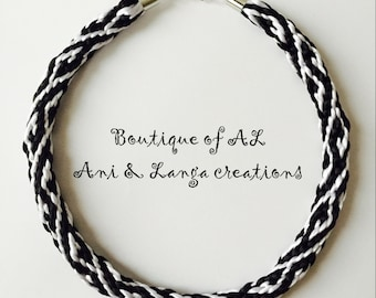 Braided Necklace, Handmade Necklace, Kumihimo Necklace, Cord Necklace, Satin Cord Necklace, Gift for her
