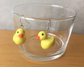 Rubber Ducky Hanging Earrings