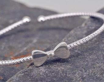 Silver Bangle Cuff Bracelet 925 ladies jewelry gift SAR109