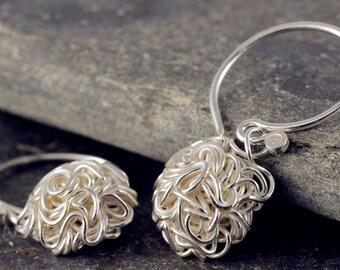 Plain Silver earrings women's jewelry earrings ear jewelry 925 gift SOR102