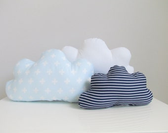 Set Of 3 Cloud Pillows, Customisable Cushion, Kids Pillow, Kids Room Decor, Baby Bedding, Cloud baby girl boy decor baby boy cloud pillow