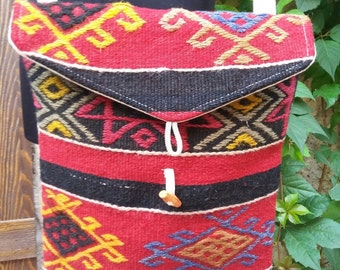 VINTAGE KILIM BAG.......Turkish handmade