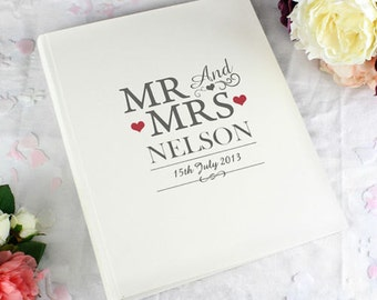 Personalised MR & MRS Traditional Wedding Photo Album, Personalised Wedding Gift, Couples, Bride and Groom Present
