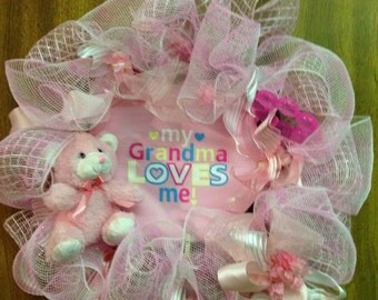 "Handmade Baby wreath-""My Grandma Loves Me"""
