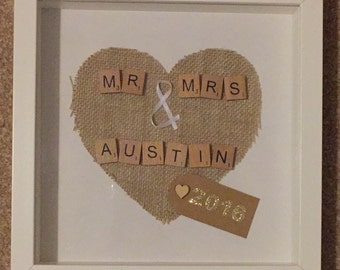 Scrabble Wedding Frames